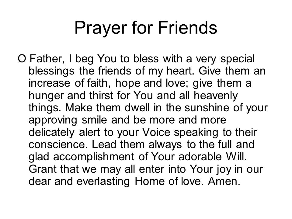 Prayer for Friends