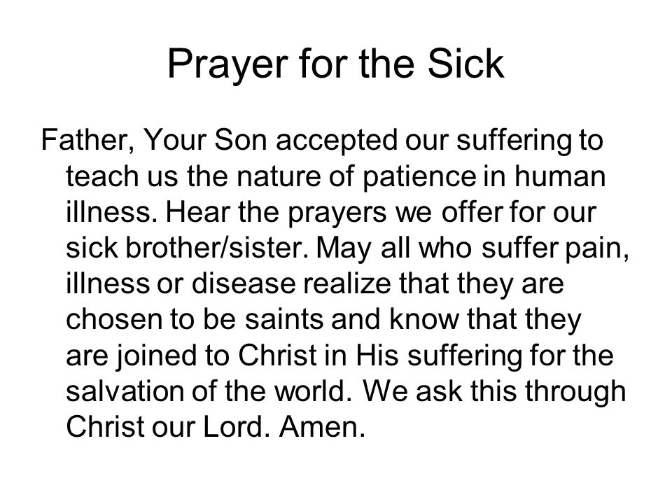 Prayer for the Sick