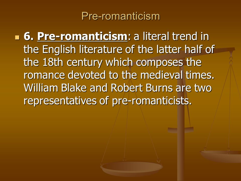 Pre-romanticism