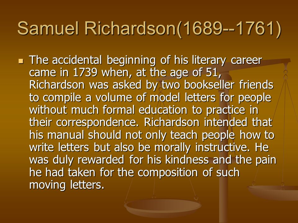 Samuel Richardson(1689--1761)