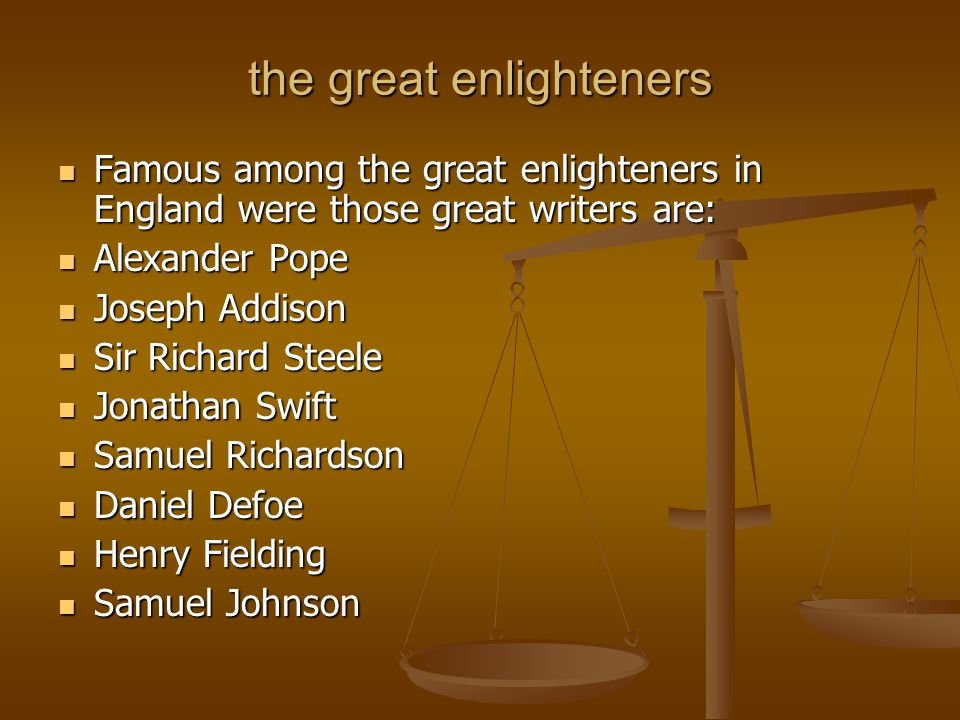 the great enlighteners
