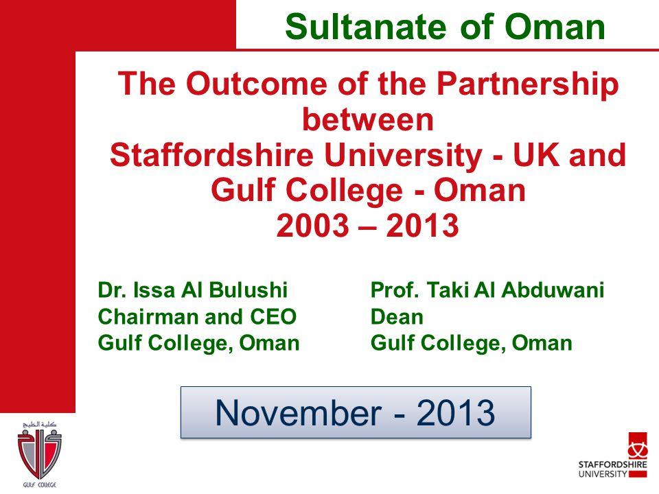 Sultanate of Oman November - 2013