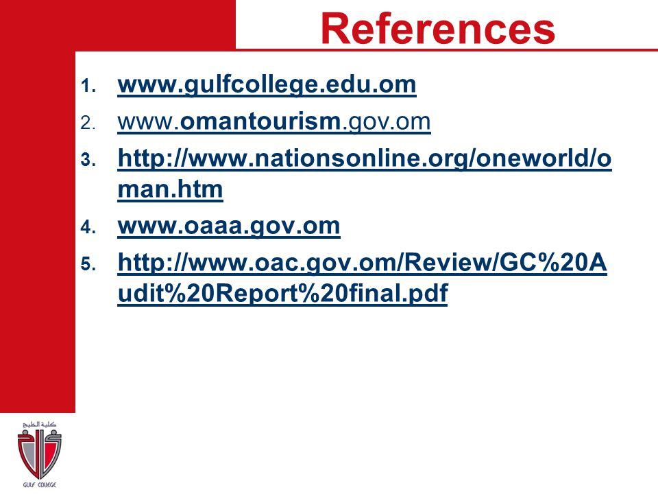References www.gulfcollege.edu.om www.omantourism.gov.om