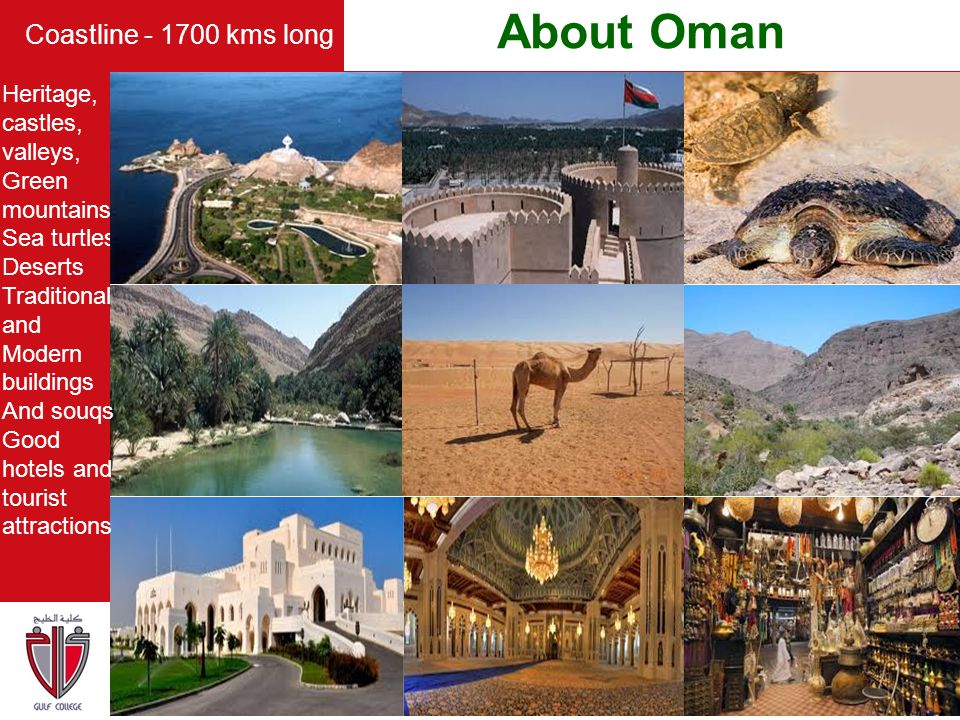 About Oman Coastline - 1700 kms long Heritage, castles, valleys,