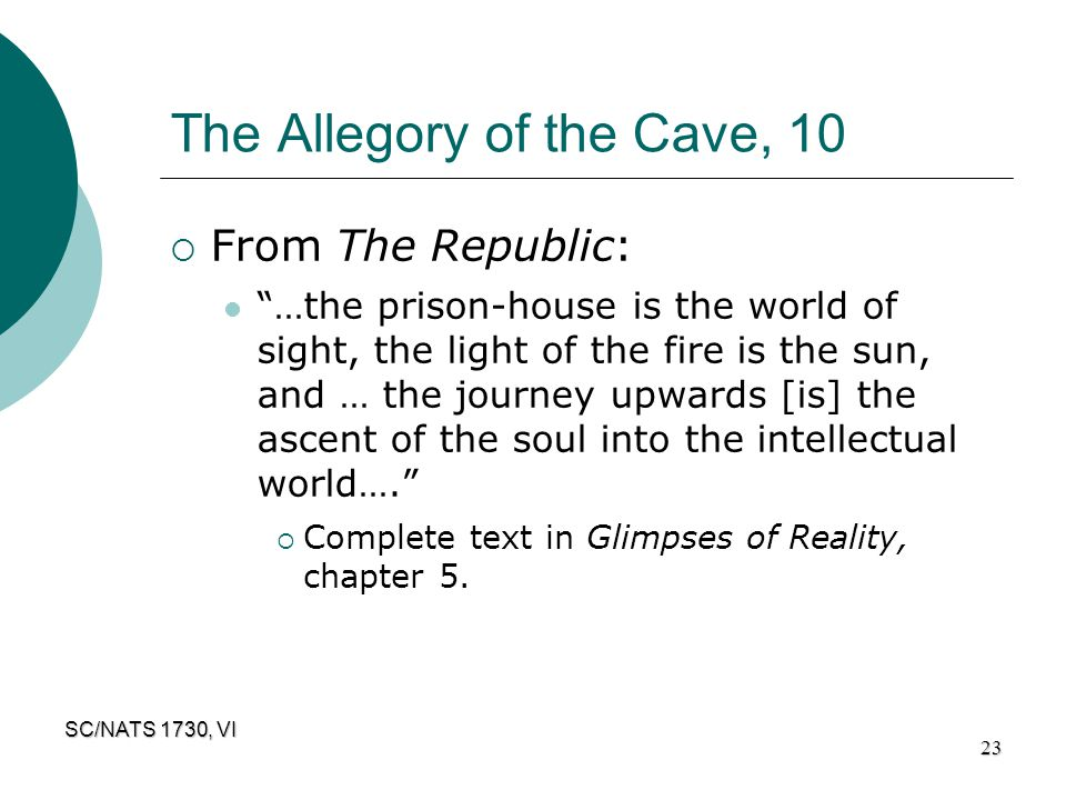 The Allegory of the Cave, 10