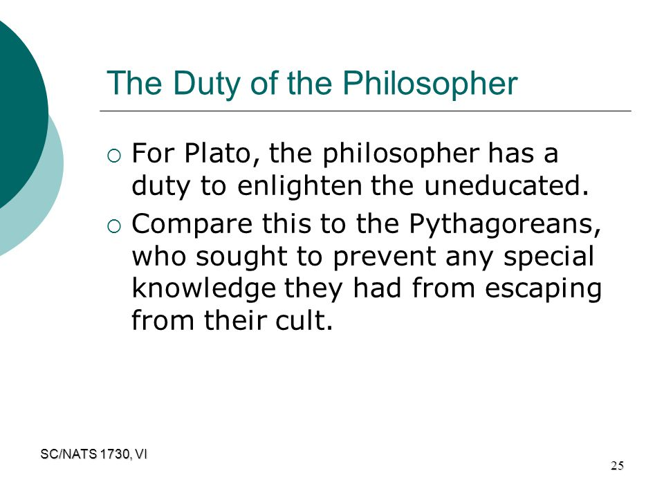 The Duty of the Philosopher