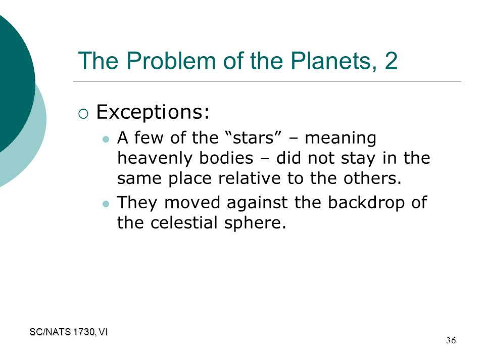 The Problem of the Planets, 2