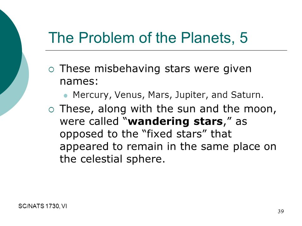 The Problem of the Planets, 5