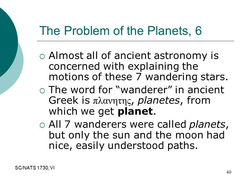 The Problem of the Planets, 6