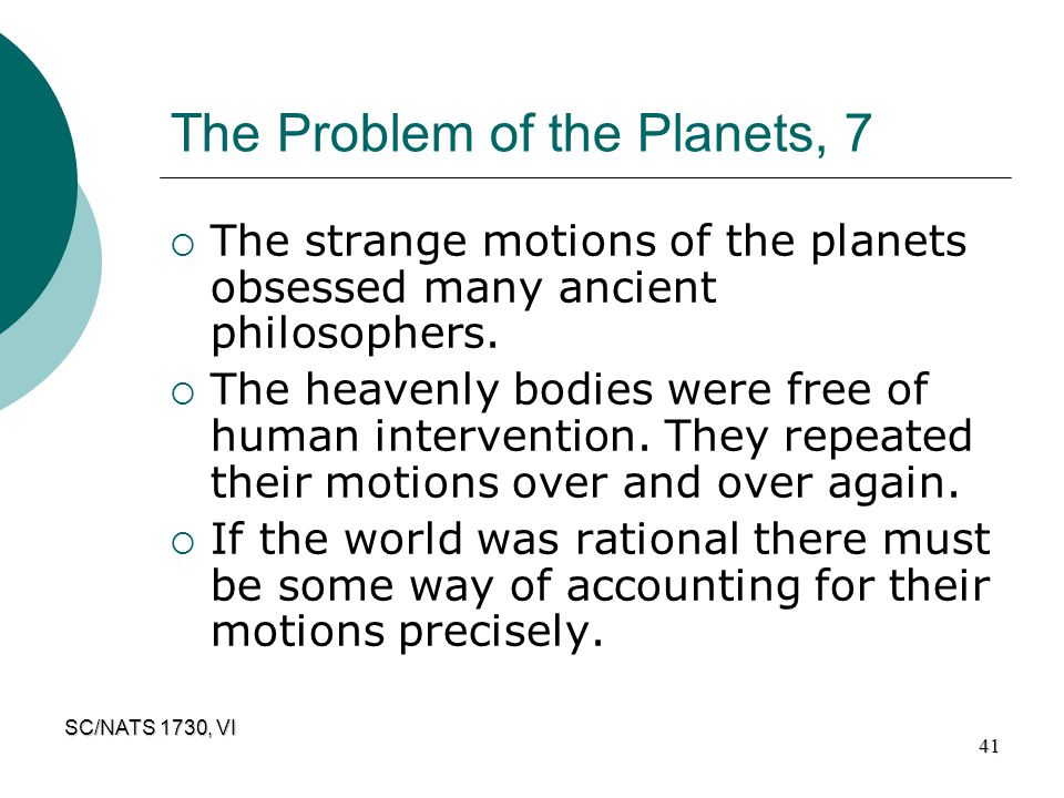 The Problem of the Planets, 7