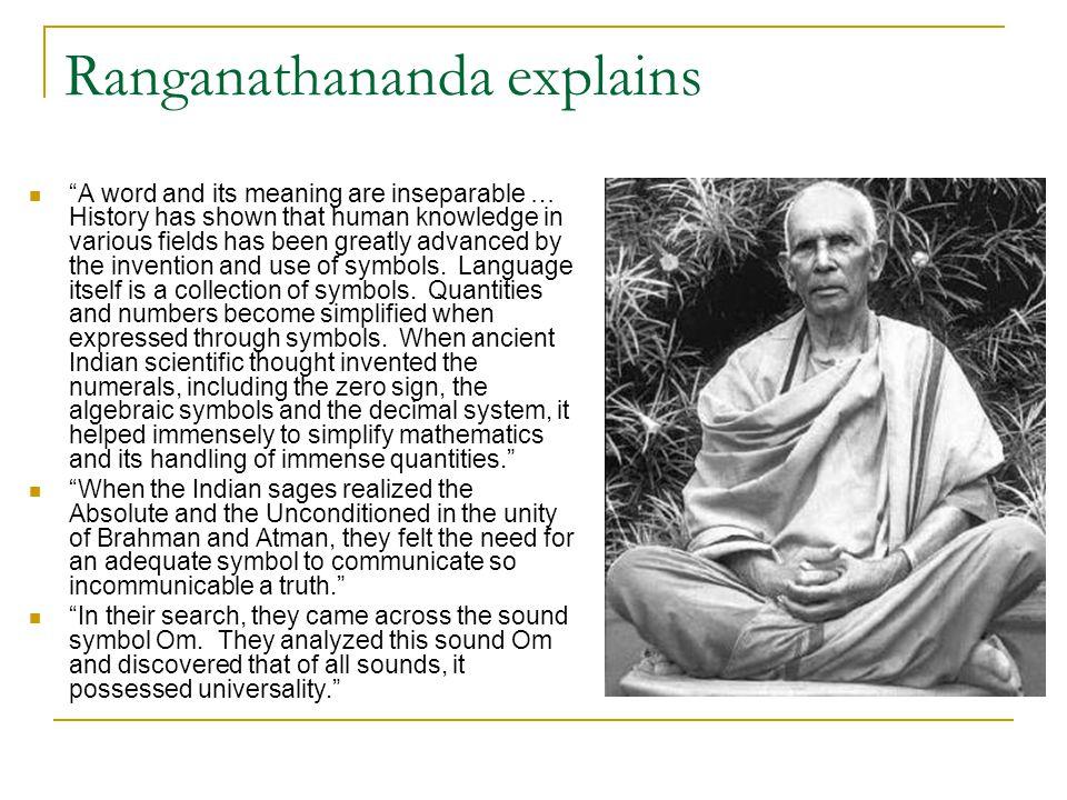 Ranganathananda explains