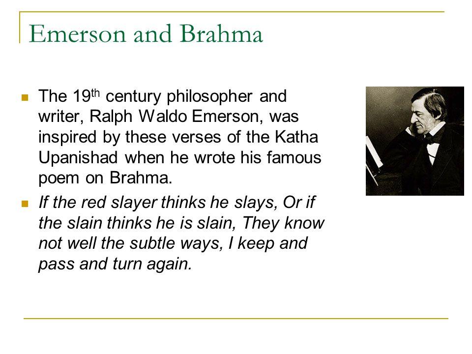 Emerson and Brahma