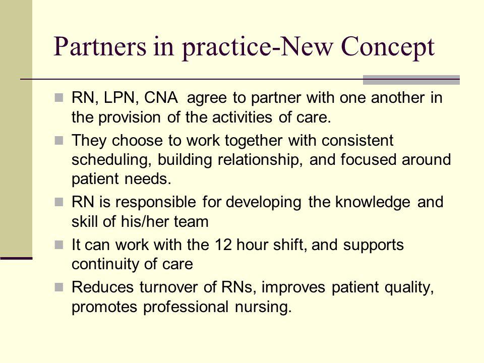Partners in practice-New Concept