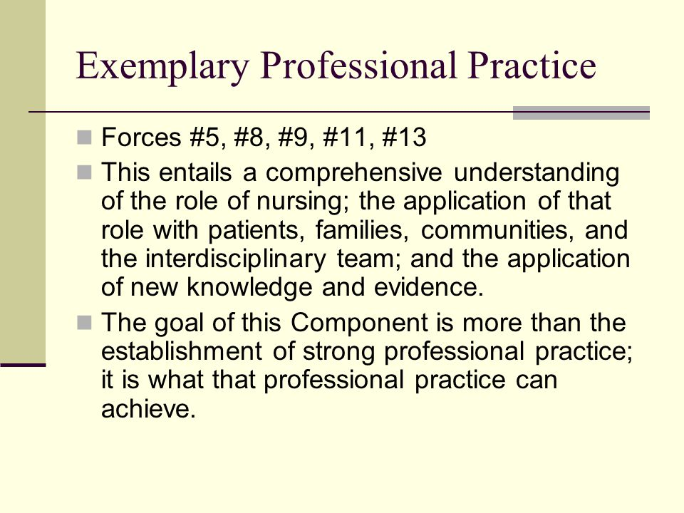 Exemplary Professional Practice