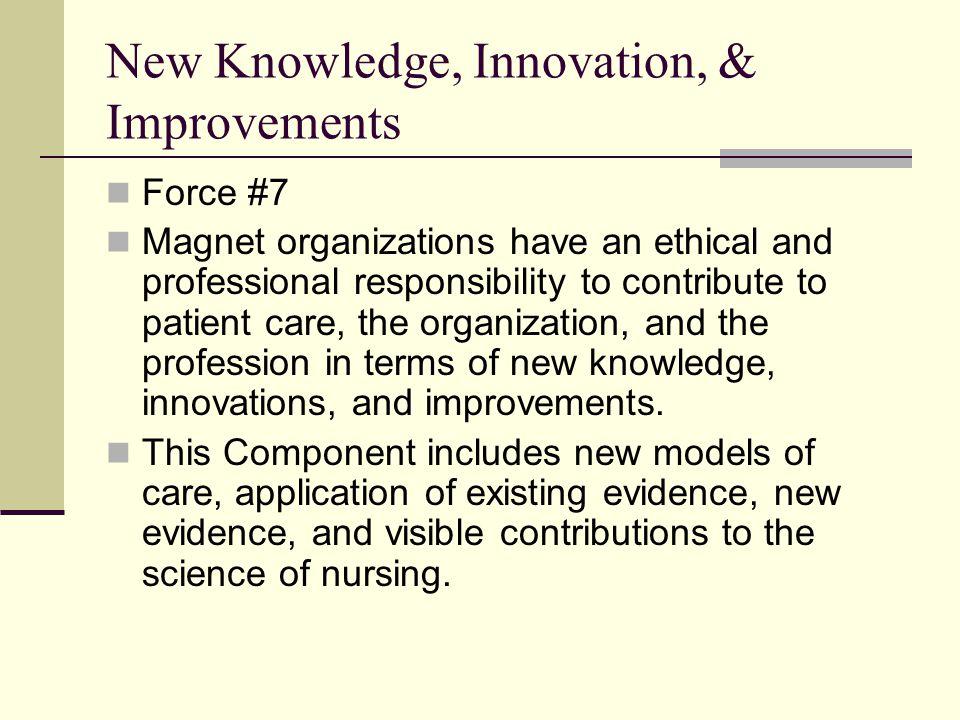 New Knowledge, Innovation, & Improvements