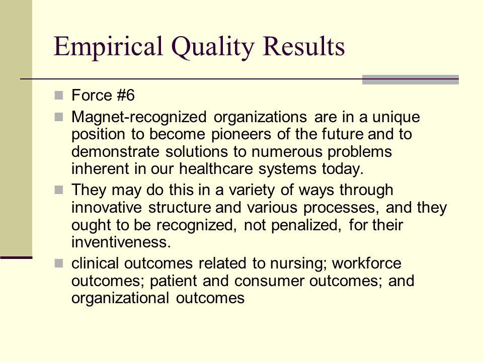 Empirical Quality Results