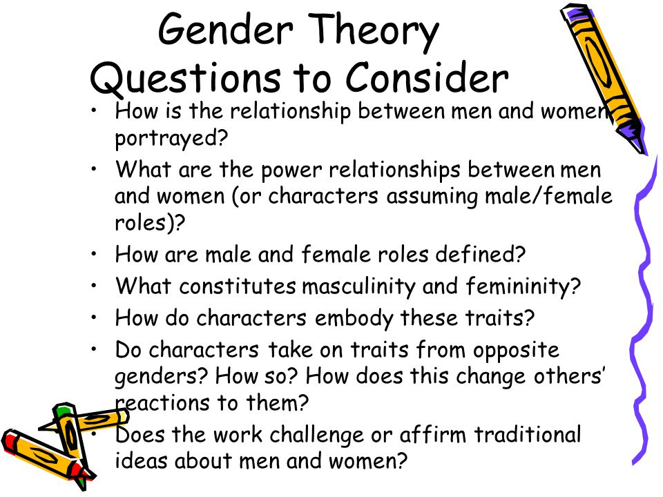 Gender Theory Questions to Consider