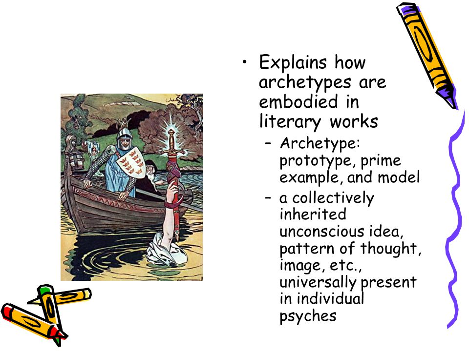 Explains how archetypes are embodied in literary works