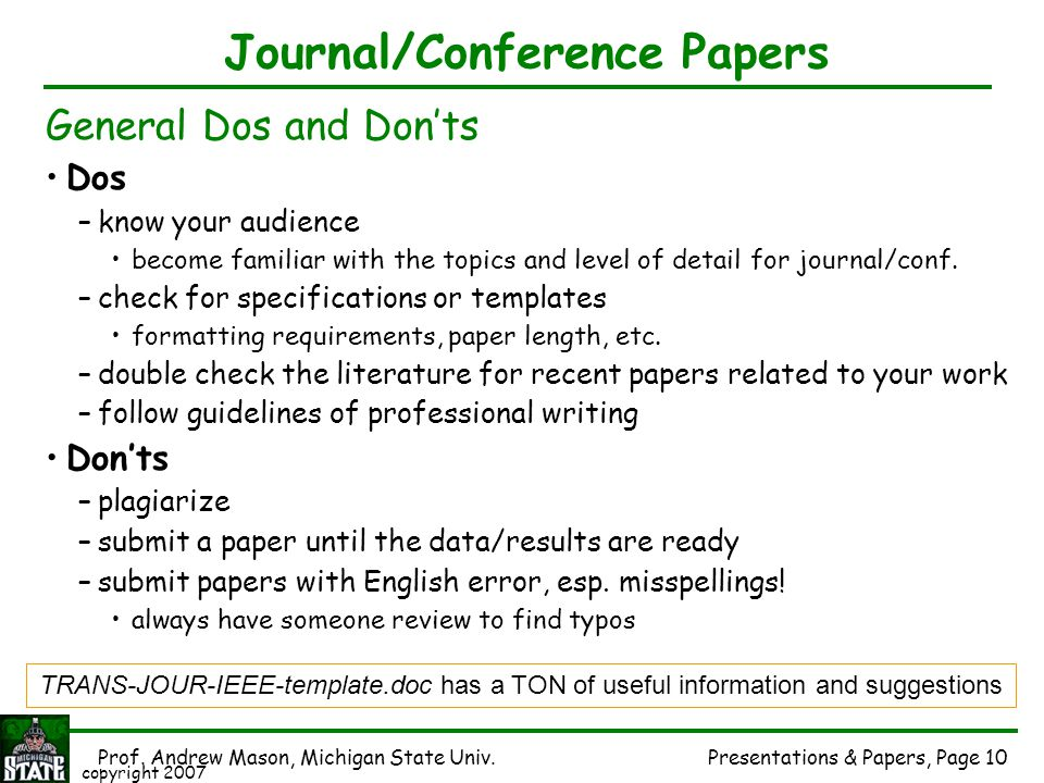 Journal/Conference Papers