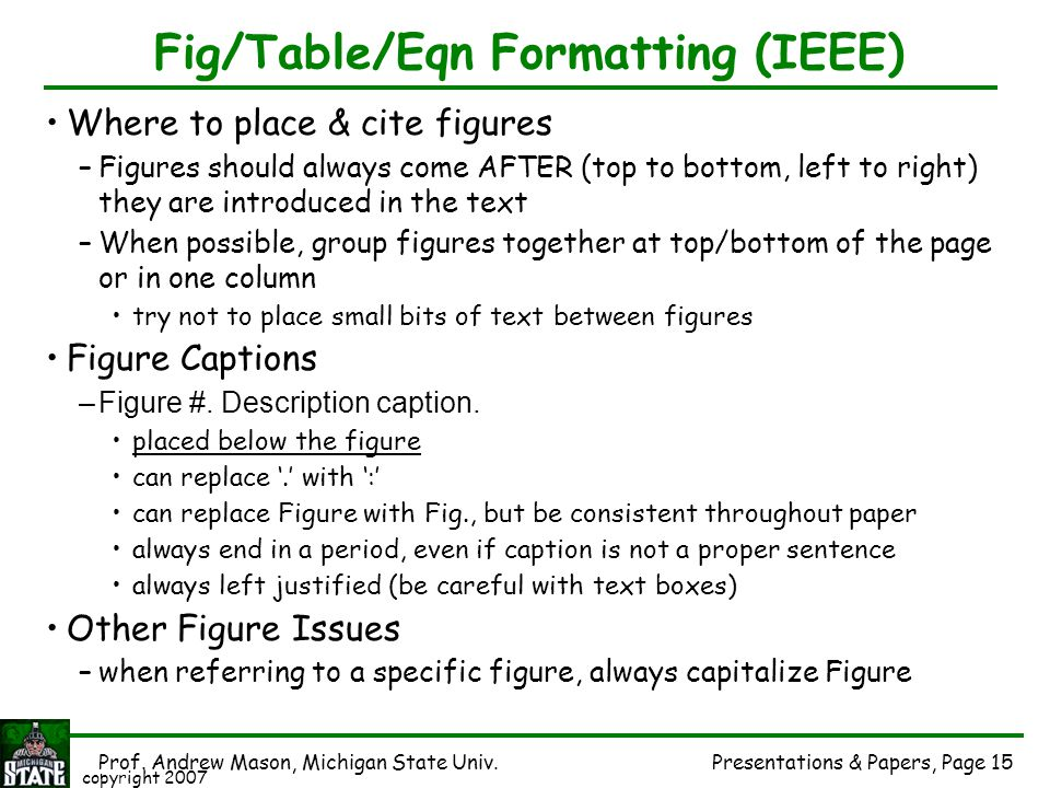 Fig/Table/Eqn Formatting (IEEE)