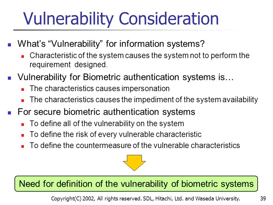 Vulnerability Consideration