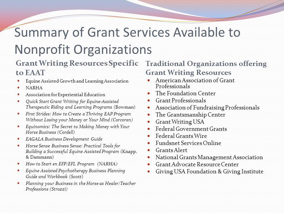 writing grants for nonprofits