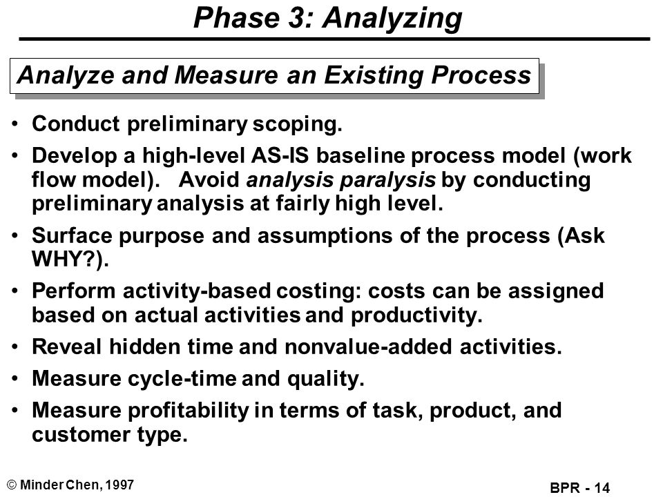 Phase 3: Analyzing Analyze and Measure an Existing Process