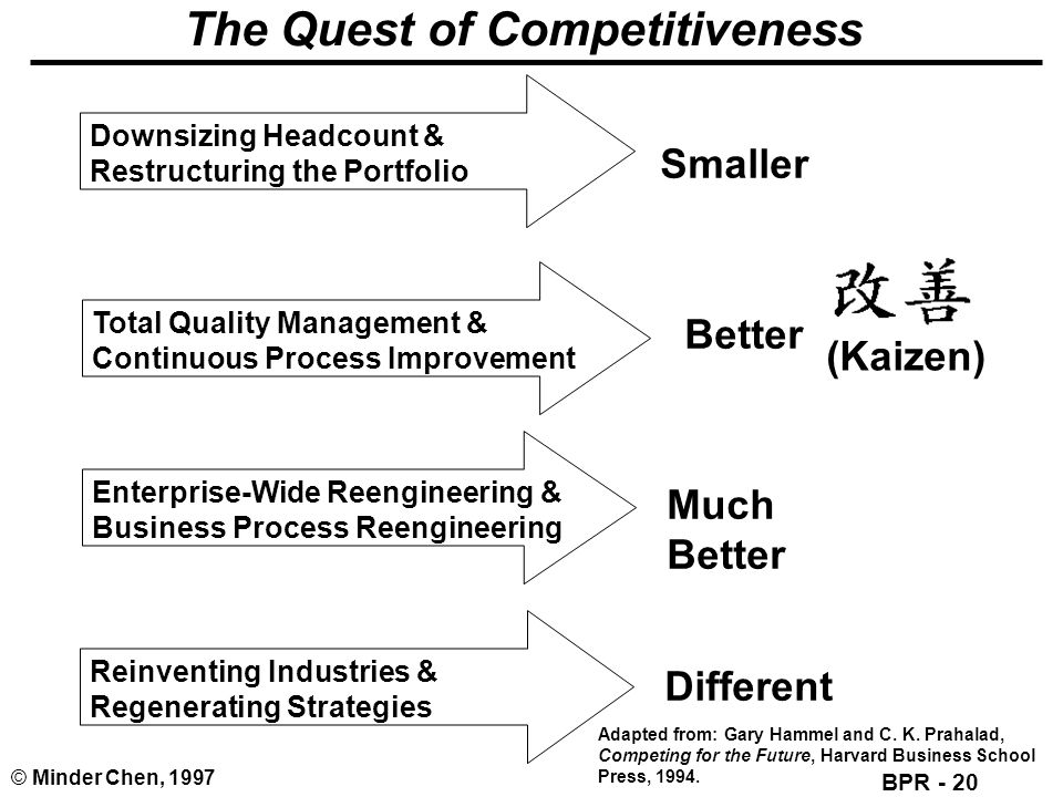 The Quest of Competitiveness
