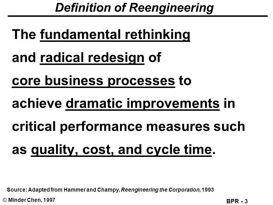 Definition of Reengineering