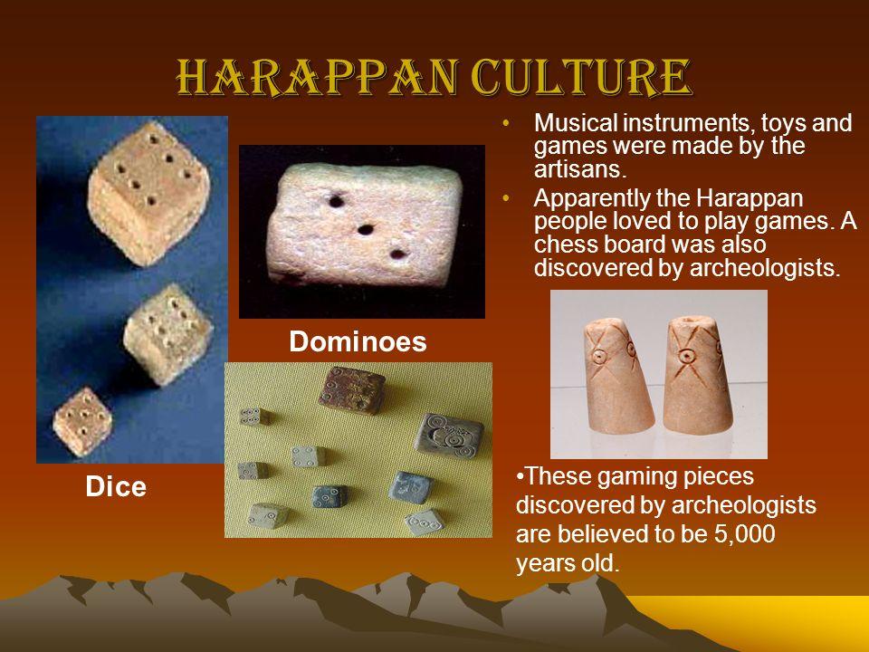 Harappan Culture Dominoes Dice