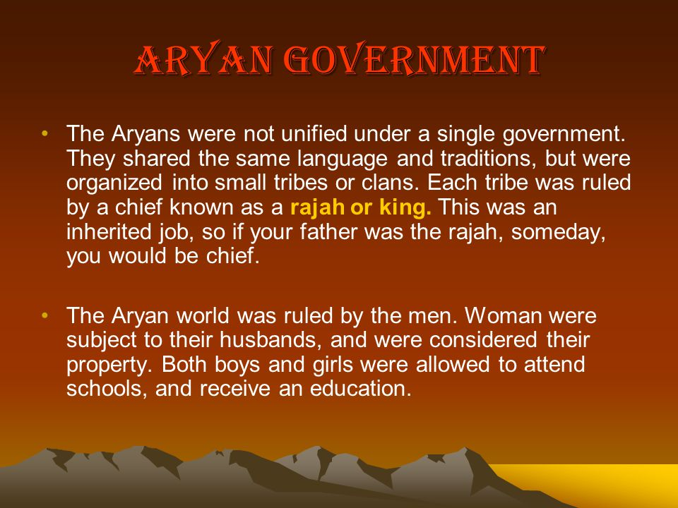 Aryan Government