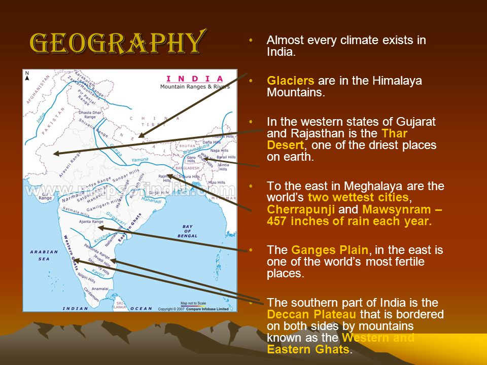 Geography Almost every climate exists in India.