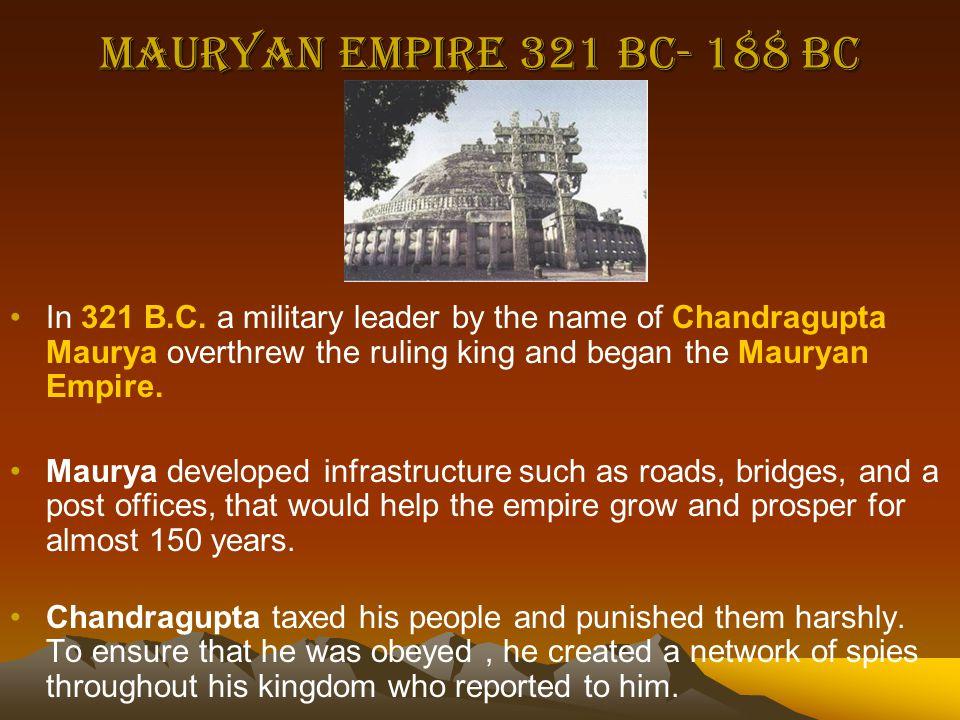 Mauryan Empire 321 BC- 188 BC