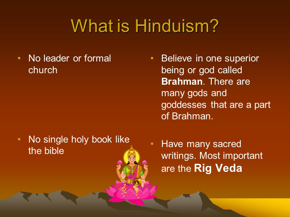 What is Hinduism No leader or formal church