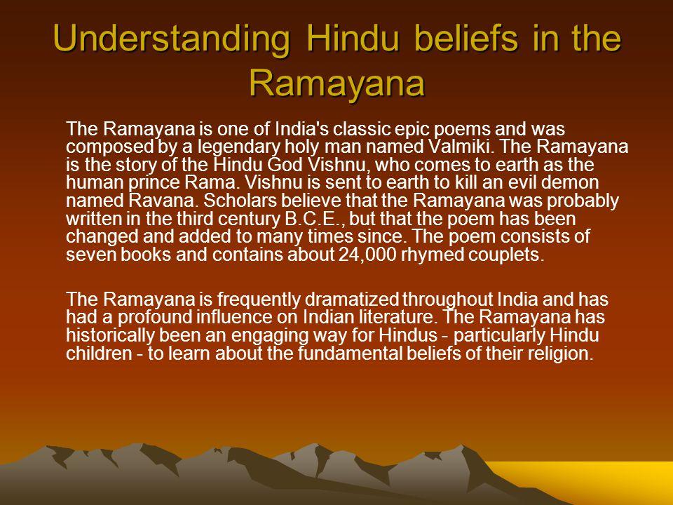 Understanding Hindu beliefs in the Ramayana