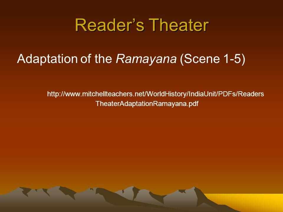 Reader's Theater Adaptation of the Ramayana (Scene 1-5)