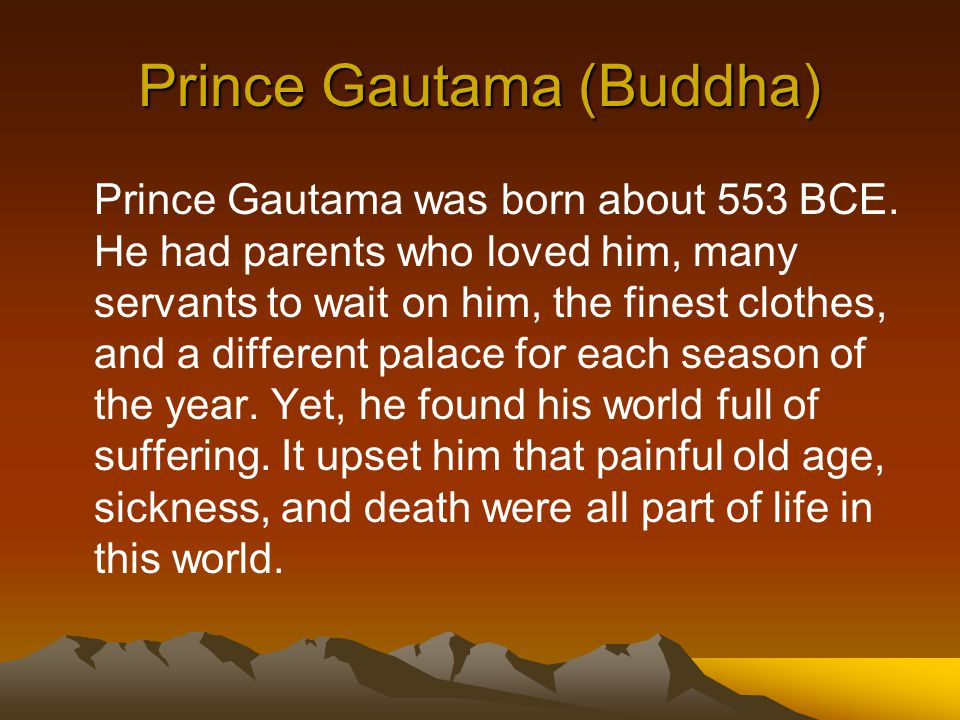 Prince Gautama (Buddha)