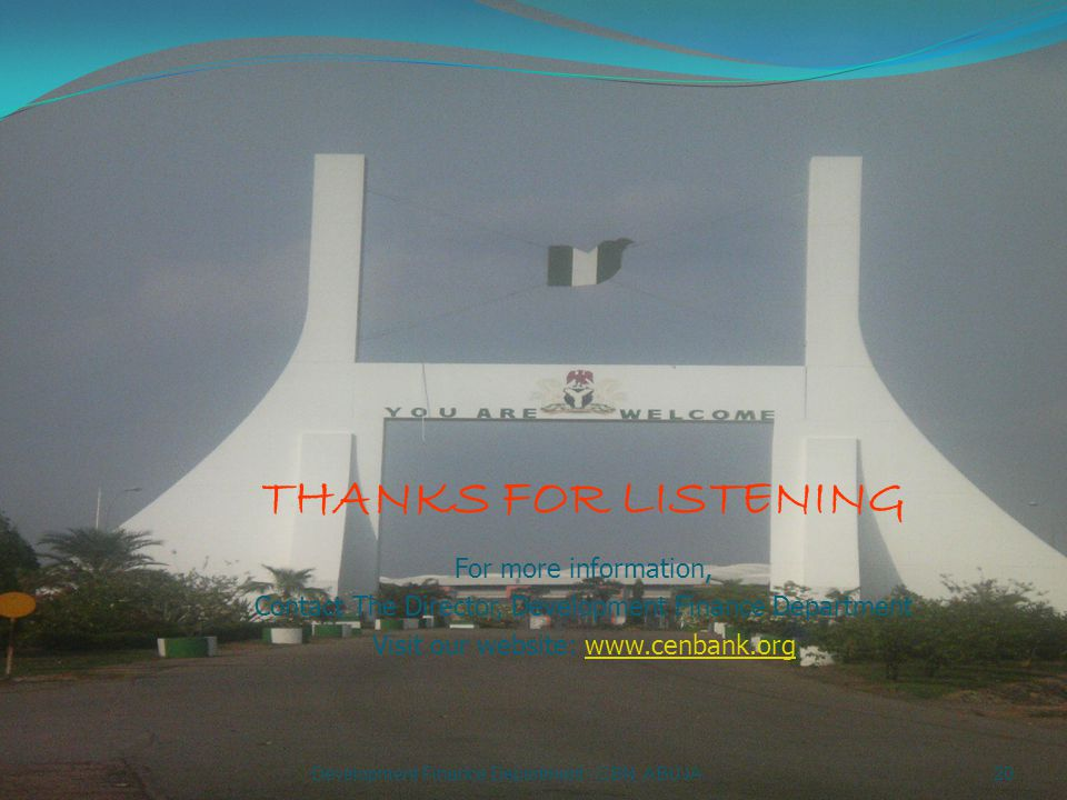 THANKS FOR LISTENING For more information,