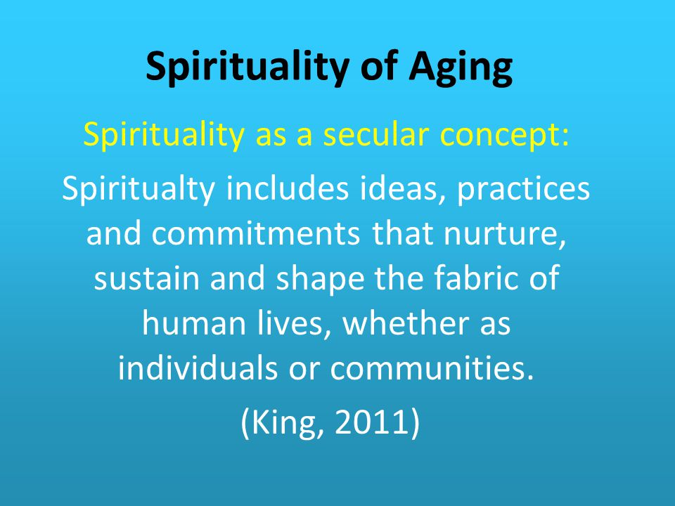 Spirituality as a secular concept:
