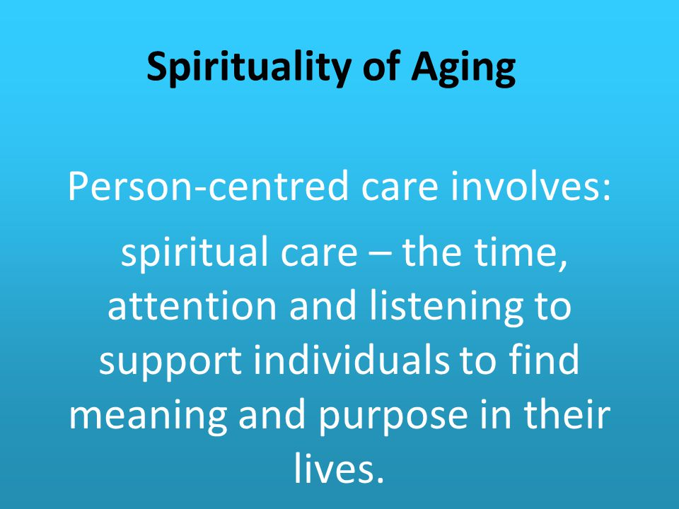 Person-centred care involves: