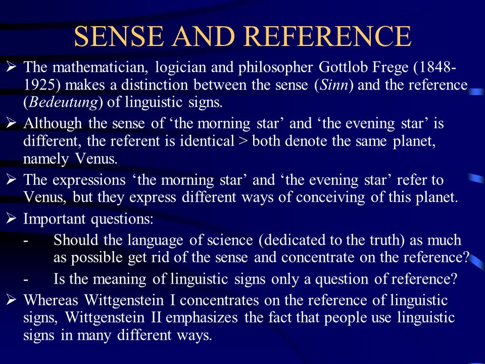 SENSE AND REFERENCE