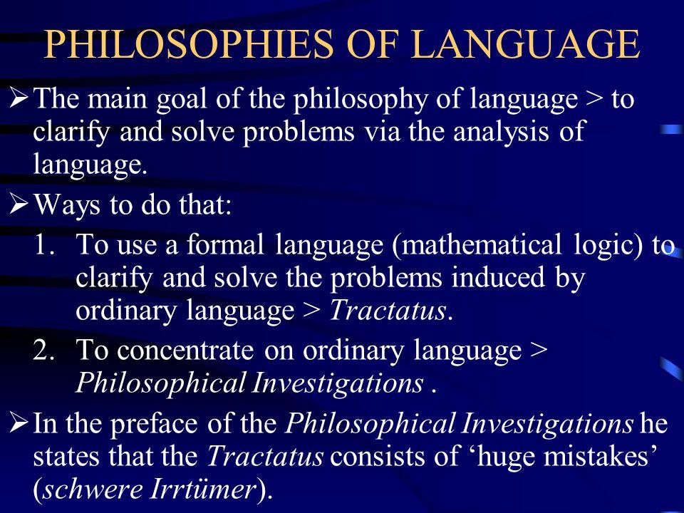 PHILOSOPHIES OF LANGUAGE