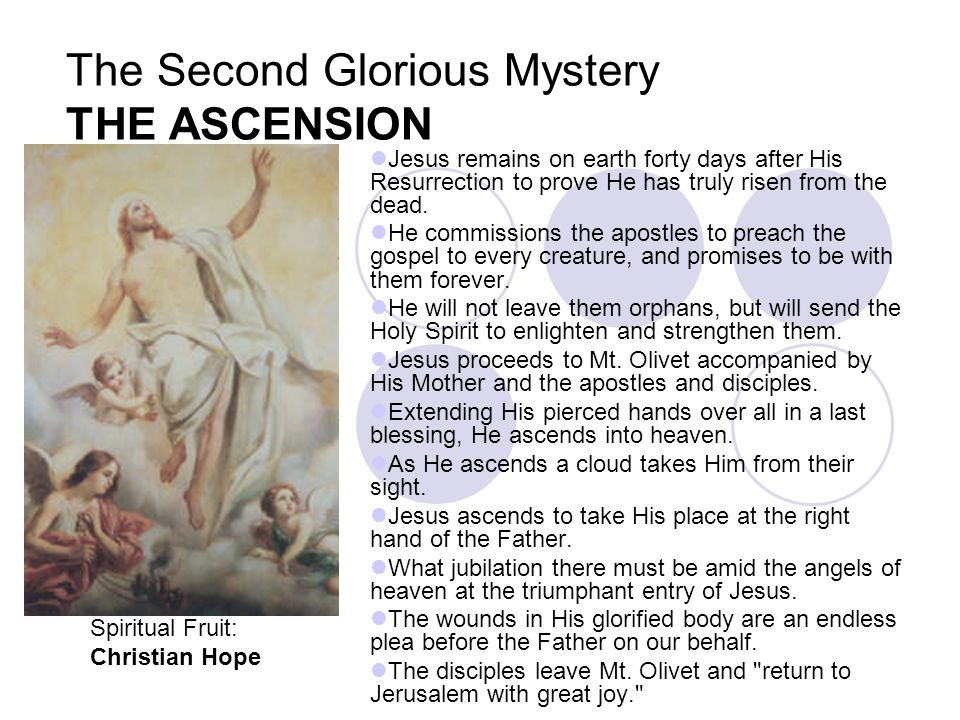 The Second Glorious Mystery THE ASCENSION