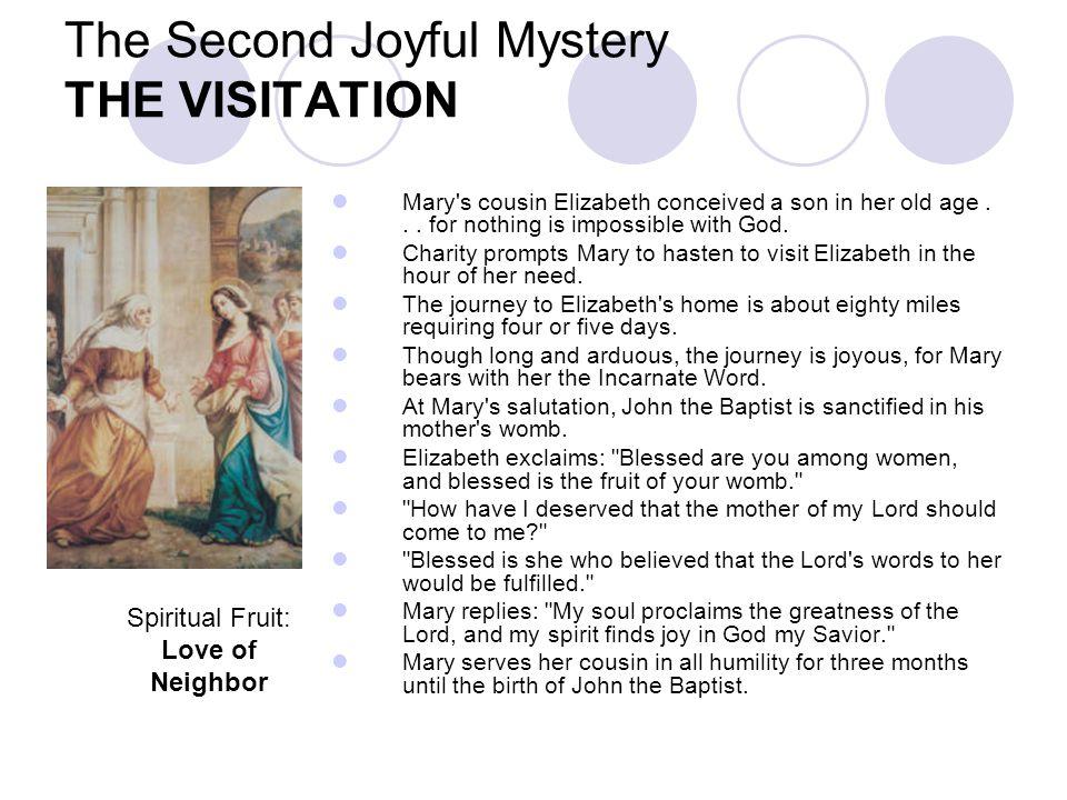 The Second Joyful Mystery THE VISITATION