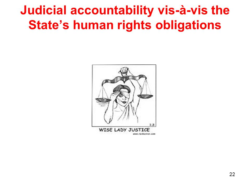 Judicial accountability vis-à-vis the State's human rights obligations