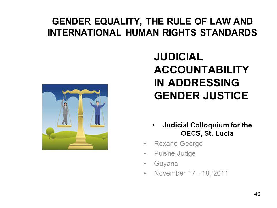 Judicial Colloquium for the OECS, St. Lucia