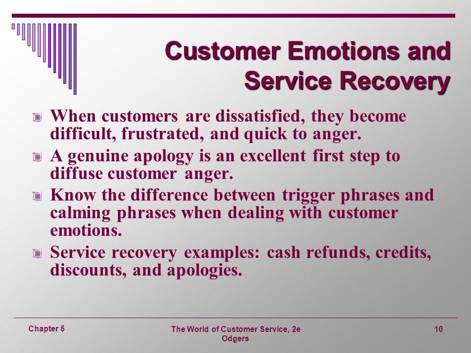 Customer Emotions and Service Recovery