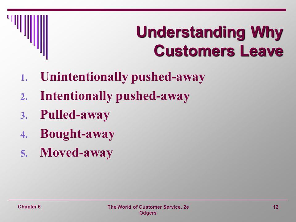 Understanding Why Customers Leave