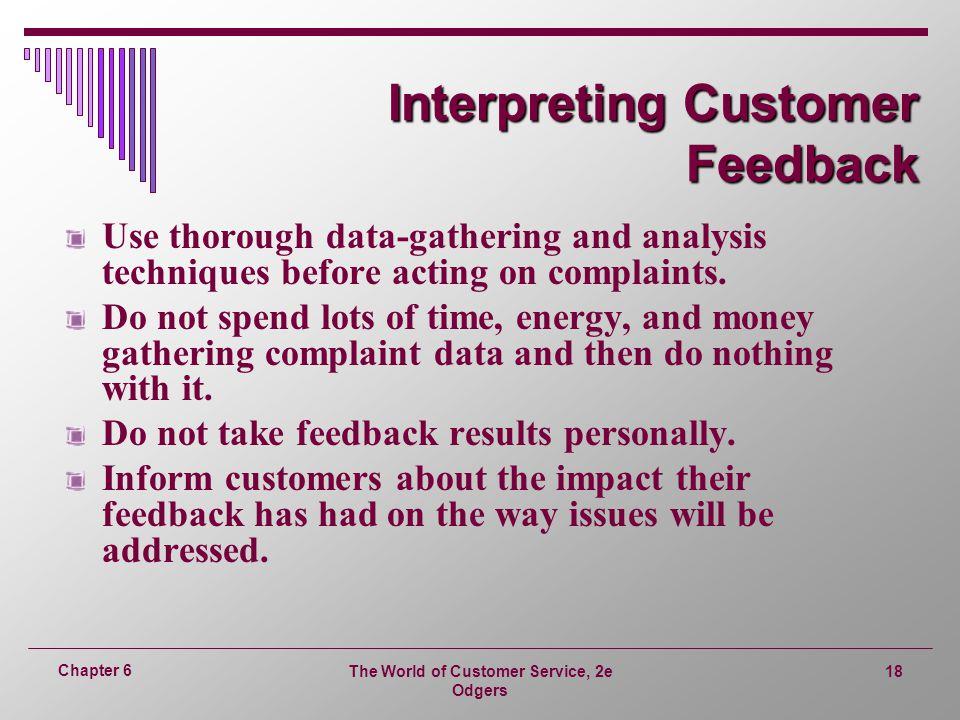 Interpreting Customer Feedback