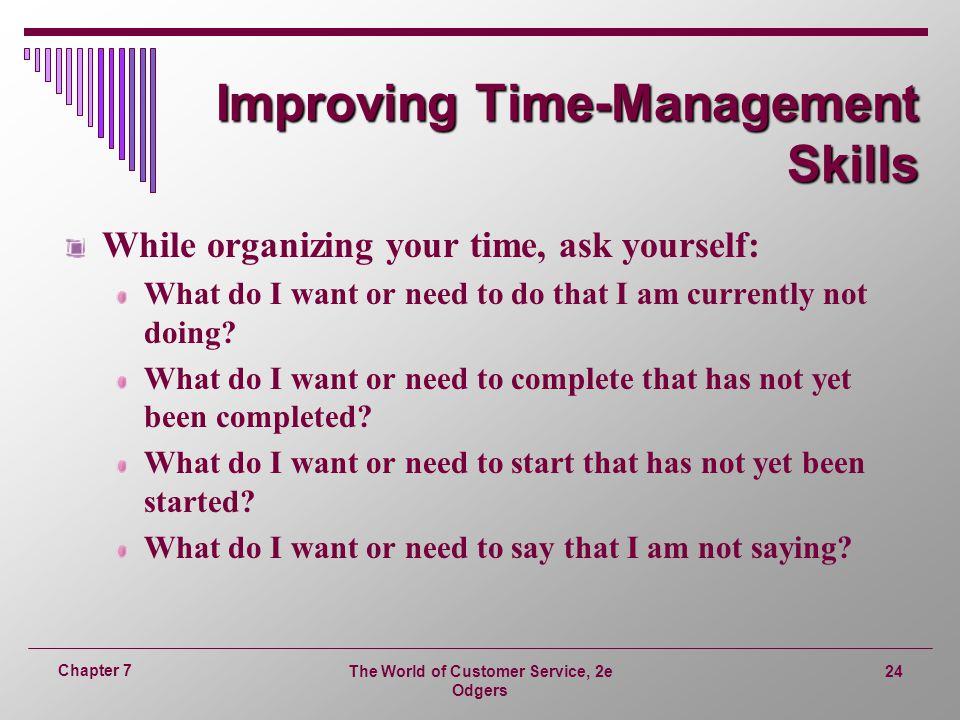 Improving Time-Management Skills